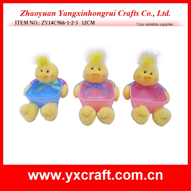 Easter decoration (ZY14C966-1-2-3 12CM) easter chick decoration, easter plastic bowl, easter decoration egg basket