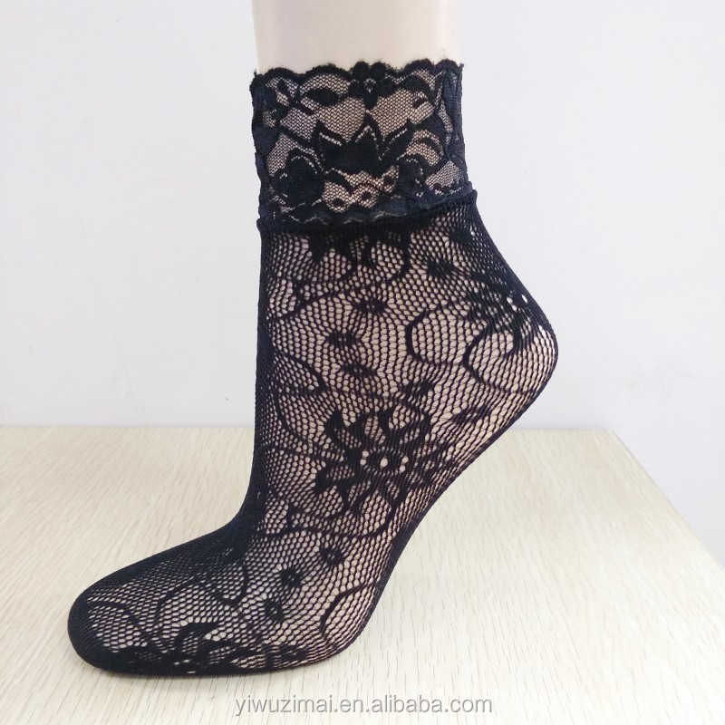 New Ladies Girl Sexy Lace Ankle Fishnet Mesh socks