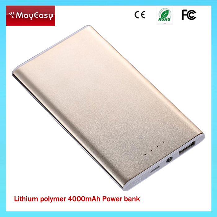 New products 2016 4000mAh Latest Ultra-Slim High Quality USB Portable Power Bank 4000mAh