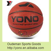 2016 YONO Cheap PU leather official size 5 basketball