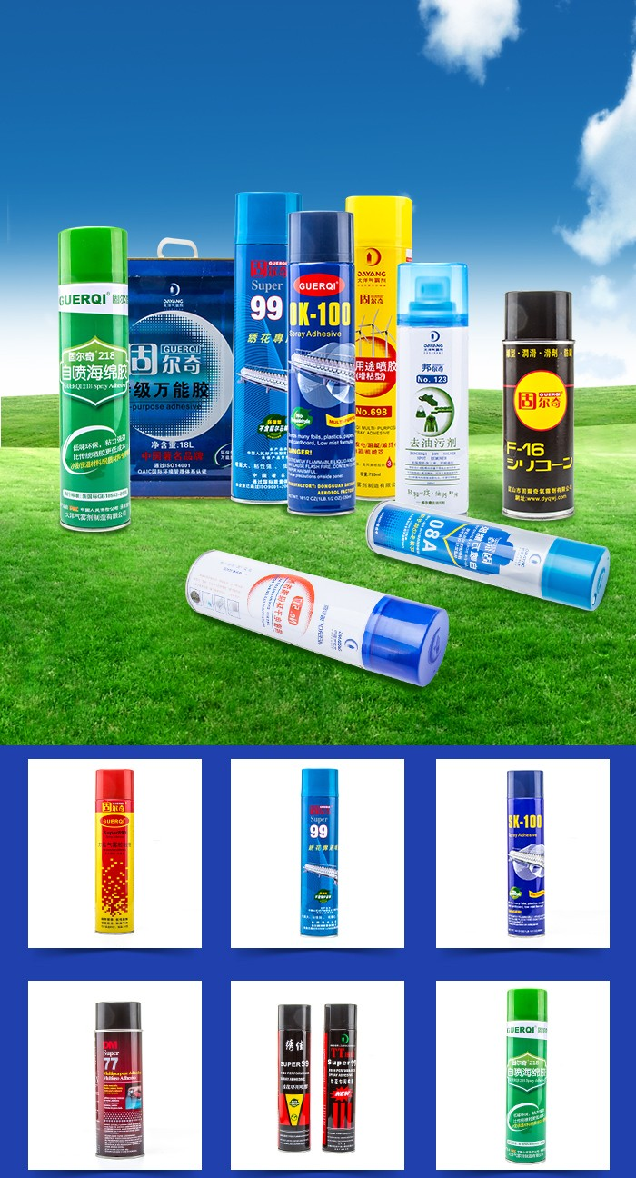 Embroidery Aerosol Self Adhesive Spray Waterproof Fabric Glue For Cloth