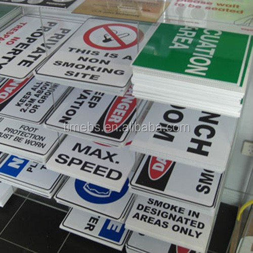 Alibaba Best Seller Plastic No parking Sign board with professional Printing