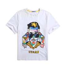 2017 Newest Hot Sale Short Sleeve Culture T shirt Custom Printing Popular Mans Tops Custom t shirt Private Label