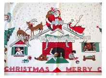 Cotton Western Cute Pattern Christmas Tablecloth