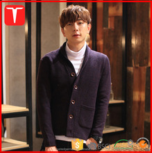 Winter korean fashion shawl collar mens cardigan