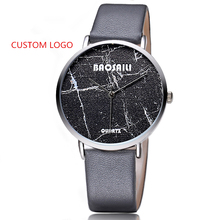 Name Brand Quartz Marble Ladies Watches Custom Your Logo Watch Men Custom Made Stone Face Watch