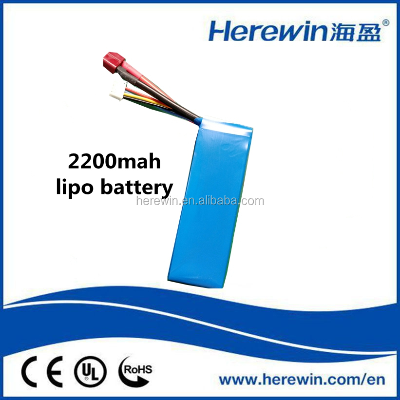 Herewin factory direct sale 1cell ~6cells 2200mAh 803496 rechargeable li-po battery pack