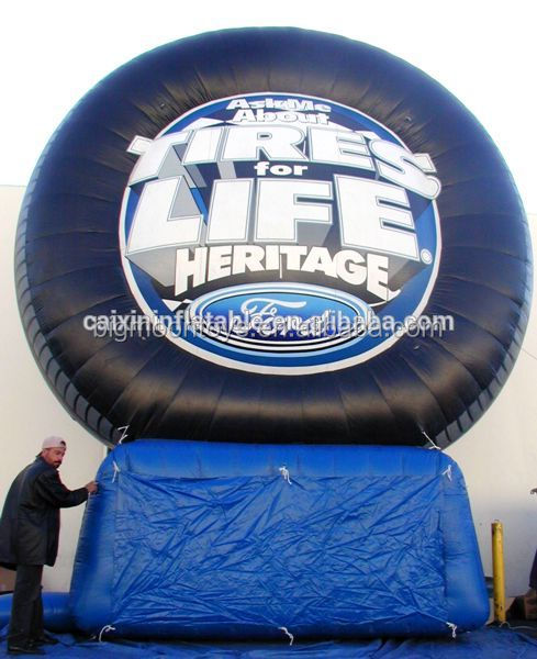 Customized giant inflatable Tyre for event advertising/ inflatable advertising tyre balloon/ inflatable outdoor advertising tyre