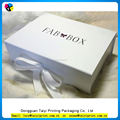 Cheap luxury paper storage box with ribbon