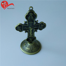 Strong production high quality St. Benedict Large Standing Crucifix,faint Wooden Jesus Catholic cross