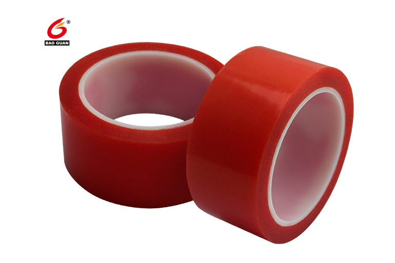 double sided adhesive Red PET tape