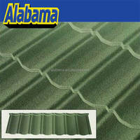 Import Quality Recycled Asian French Composite Raw Patch Hottest Ridge Plain Nopad Zincalume Durable Stoned Roof Tile