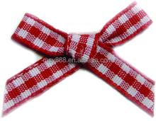 Wholesale machine made ribbon bows for lingerie / machine made lingerie ribbon bows