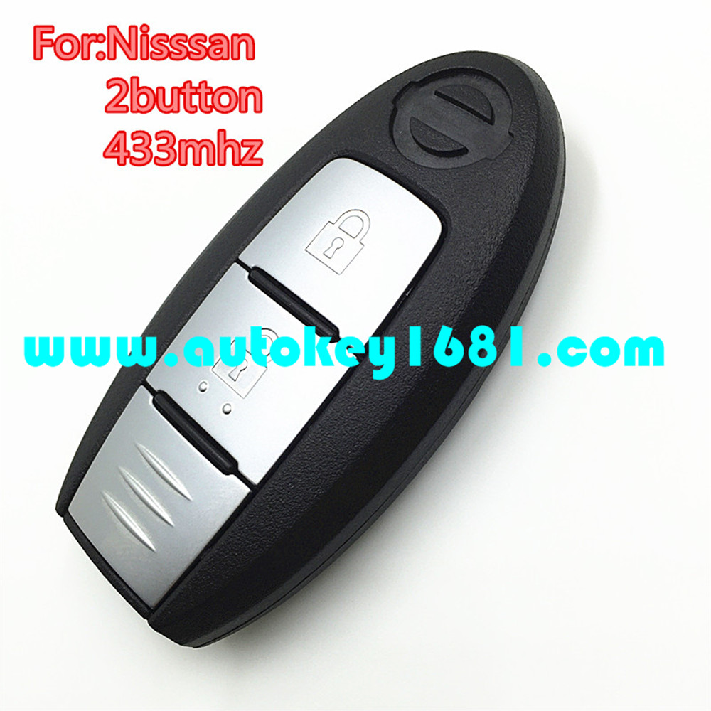 MS car smart card 2 button keyless entry remote 433mhz key for nisan X-TRAIL