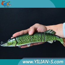 2015 big size large swimbait pike lures multi jointed fishing lures