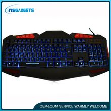 China 2016 new products game-specific backlight keyboard ,h0tmt led backlit wired gaming keyboard