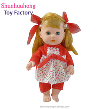 Hot sell cute soft plastic vinyl alive baby toy dolls for kids