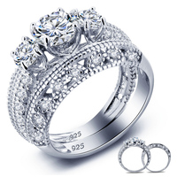 gemstone ruby finger ring wedding ring 925 german sterling silver jewelry