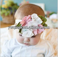Wholesale Newborn Baby Girls Elastic Infant Headwear Big Flower Headband Infant Kids Hair Accessories