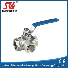 Top quality lever operated floating ball valve cf8m