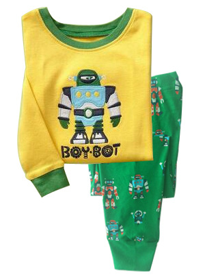 Boys Cartoon Person Printing Kids Pyjamas Clothing Sets Product Type Best Price
