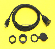 USB2.0/HDMI/USB3.0/Male to Female Car Flush Mount Extension Lead Panel Cable