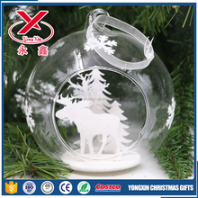 2017 new clear Christmas open glass ball for Christmas tree decoration