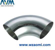 Sanitary stainless steel DIN/SMS/3A welded elbow/bend
