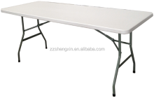 Brand New White Long Plastic Center Folding Bi-Fold Table