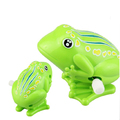 Custom Funny Plastic Animal Wind Up Frog Toys For Kids