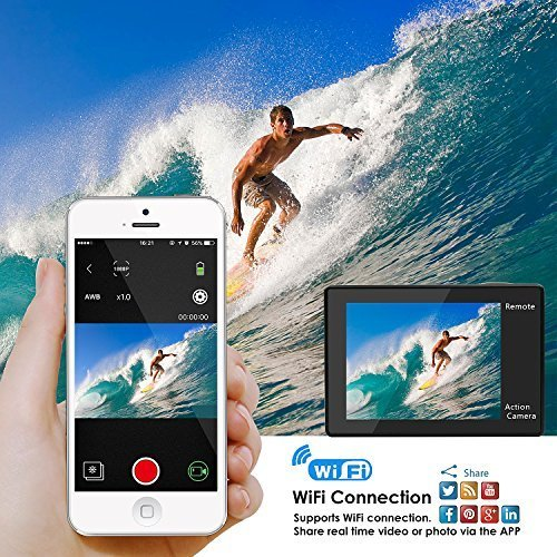 "OEM for Amazon Seller Newest 2.0"" 4k Ultra HD Action Camera Touch Screen with Wifi Remote Control"