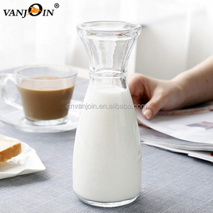Clear Empty Glass Ice Milk Tea Beverage Bottle Bubble Tea Glass Bottle