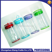 Round clear pvc bag with zipper,custom tranparent pvc gift bag