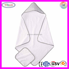 C767 Baby 100% Cotton Terry Cloth Hooded Blanket Towel Set Terry Cloth Blanket