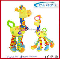 infant toy rattles hanging giraffe baby stuffed animals plush rattle toys