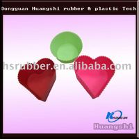 100% food grade silicone molds with big heart hole and cupcake decoration