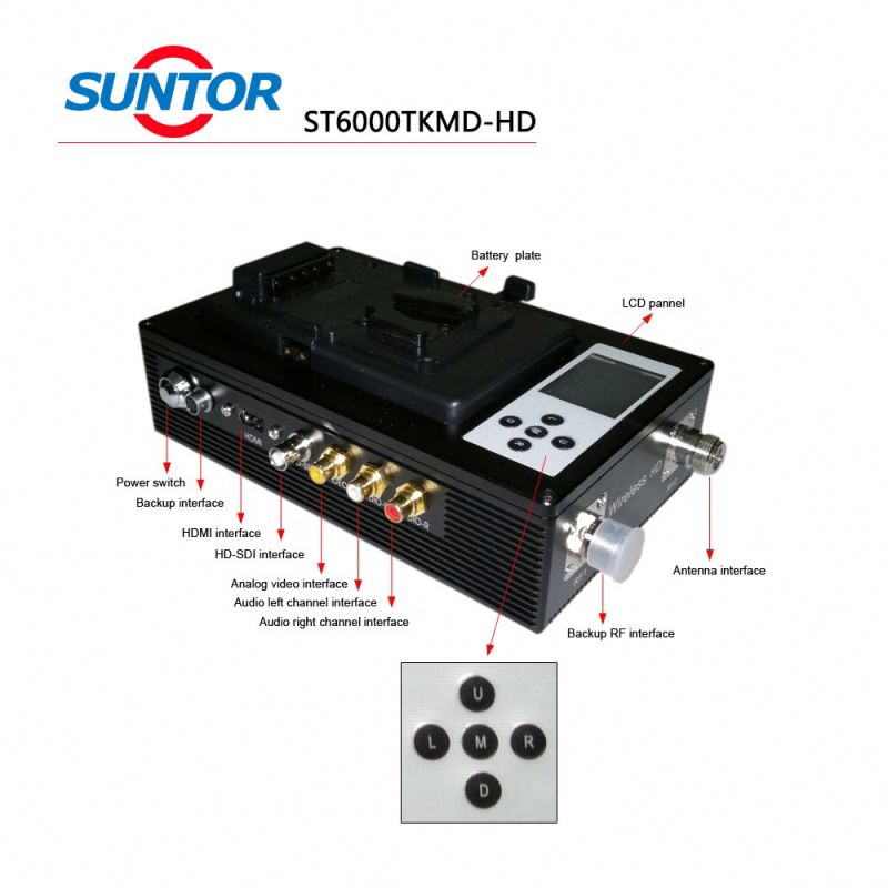 Suntor 2W 5-10km HD wireless radio cofdm broadcasting equipment