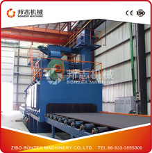 Q69 Through Type Steel Plate And Section Shot Blasting Machine With High Efficiency