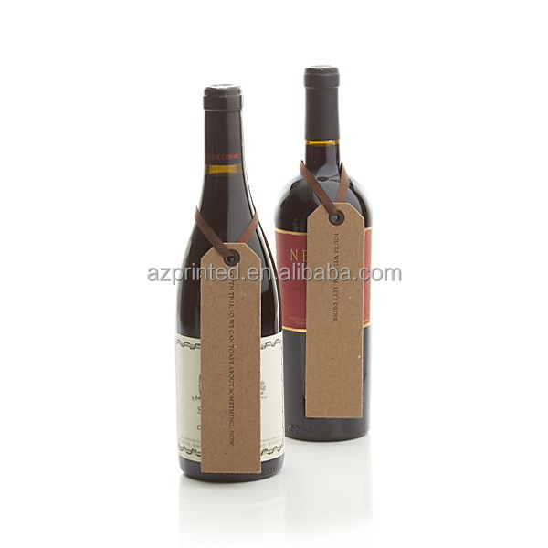 chocolate color wine hang tags with ribbon from manufacturer in Shanghai
