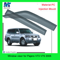 auto parts accessories Injection mold window visor for Pajero V73 V75 2005