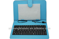 Tablet keyboard Cover 7' Tablet PC Keyboard with Leather Case