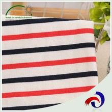 Multifunctional combed jersey textile knitted satin stripe 100% cotton fabric
