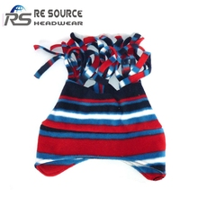 best selling velvet stripe winter baby cap for keeing warm