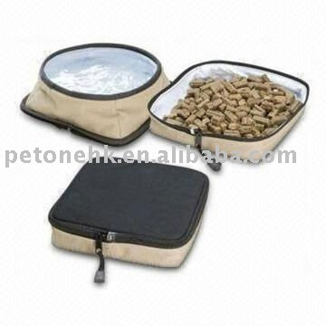 Pet Travel Bowl Set with pet travel water bowl