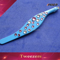 TW1283 fast delivery jewelry x eyebrow tweezer with diamond