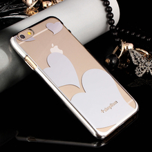 2015 new fashion phone case transparent protective cover loving heart Phone Case for iphone 6