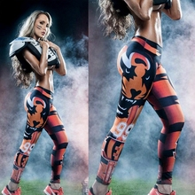 Fashion digital printing fitness pants football team tights tiger NO.99 leggings