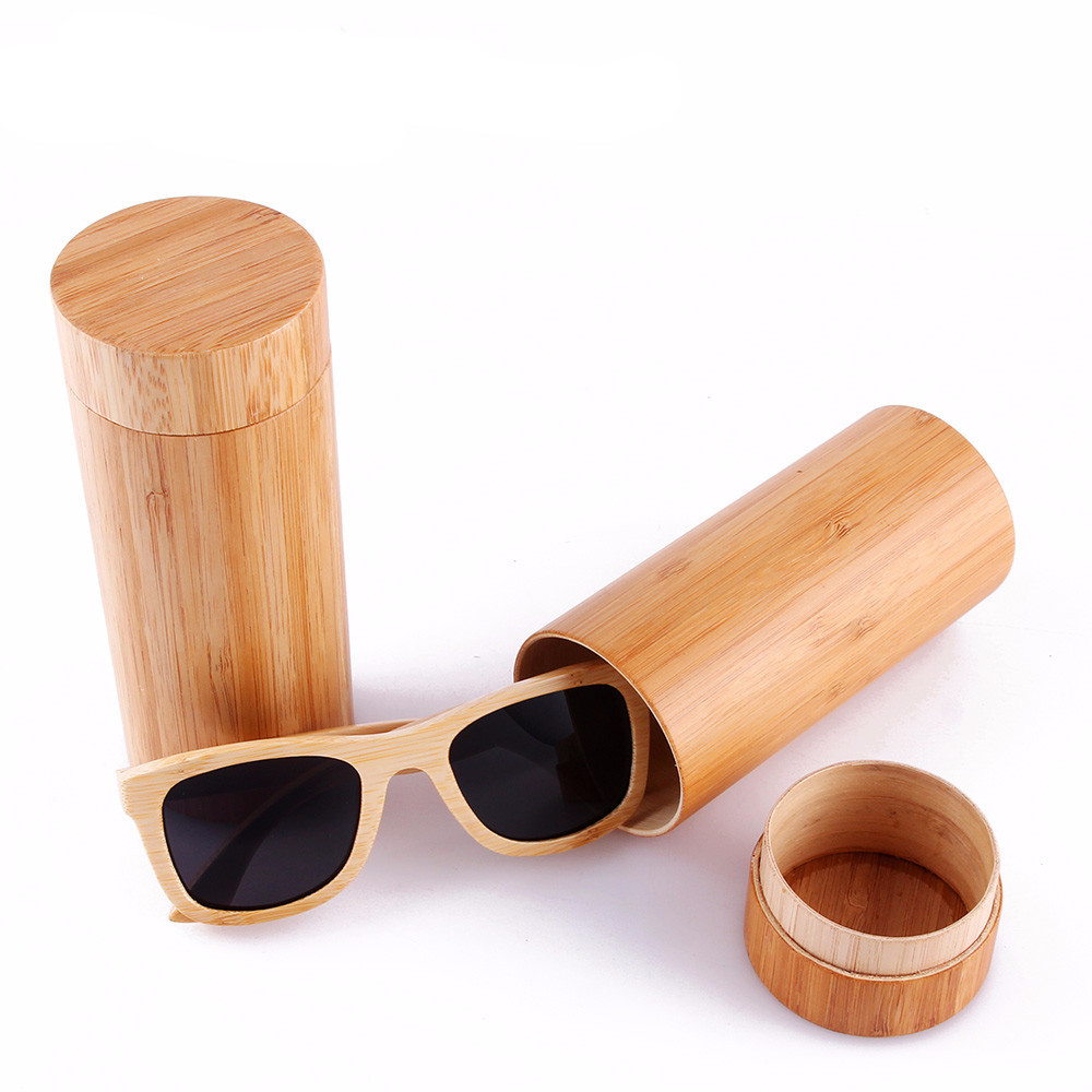 2017 best selling handmade cat 3 lens glasses uv400 sunglasses polarized bamboo sunglasses with bamboo case