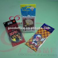 new arrive and factory manufacture advertising gift hanging paper air freshener for car