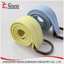 colorful cheap canvas woven fabric belt